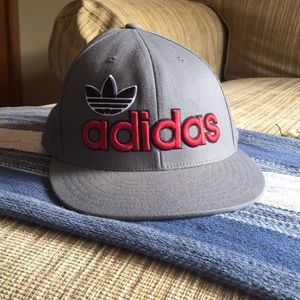 Adidas gray and red cap